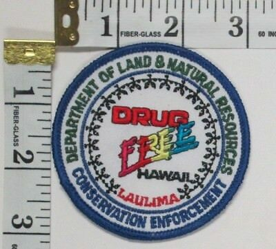 Department Of Land And Natural Resources Hawaii Drug Free Enforcement Patch