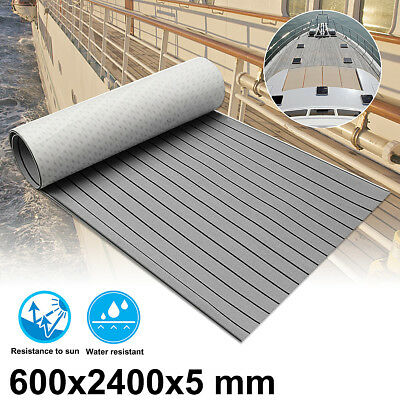 "95""x24"" Marine Boat Yacht Decking Flooring Synthetic Teak EVA Sheet Grey 2.4M"