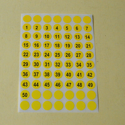 5 Sheets Small Garment Letter Labels Tags Self Adhesive Round Number Stickers