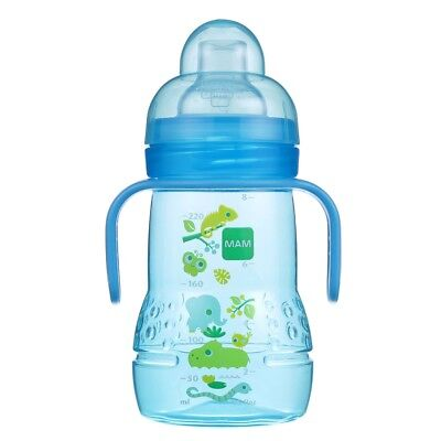 Mam Trainer Cup With Nipple And Extra Soft Spout, 8oz - Blue
