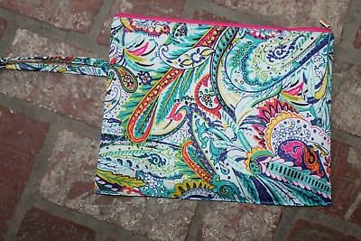 Large Paisley Waterproof Dry Wet Diaper Travel Bag Clothes Swimming Baby NEW
