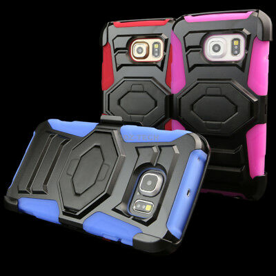 For Samsung Galaxy S6 Edge Rugged Shockproof Hybrid Phone Case Belt Clip Holster