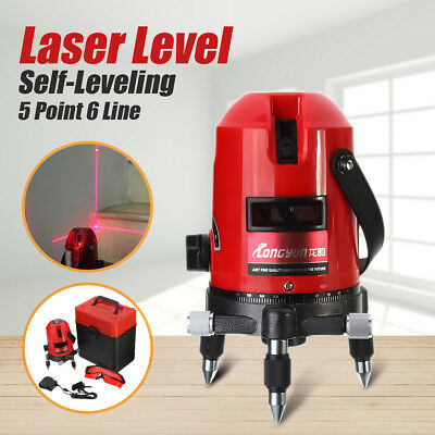 360 degree 5 Line 6 Point Red Rotary Self Leveling Laser Level Cross Measure