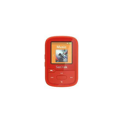 SanDisk Clip Sport Plus 16GB MP3 Player with Bluetooth  Built-In FM Radio, Red