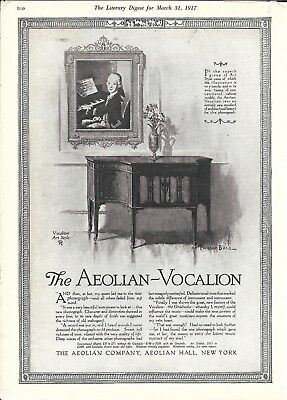 1917 Aeolian Vocalion Art Style 8 Phonograph Ad