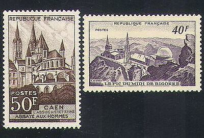 France 1951 Observatory/Astronomy/Church/Buildings/Architecture 2v set (n34091)