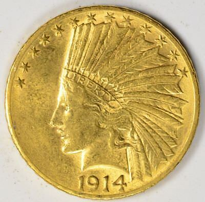 1914-S $10 Indian Head Gold Eagle