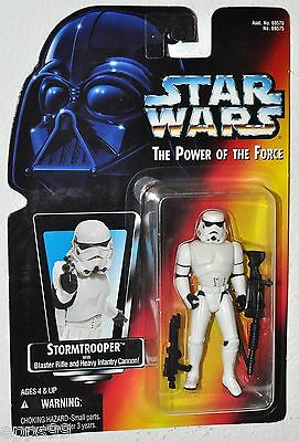 Star Wars 1995 POTF Stormtrooper with Blaster Rifle & Heavy Infantry Cannon Red