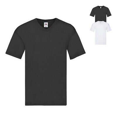 Fruit of the Loom Herren T-Shirt ORIGINAL V-NECK T V-Ausschnitt Kurzarm F272