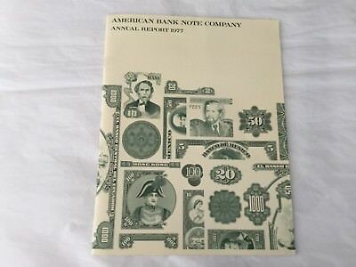 American Banknote Company 1977 Annual report with American eagle vignettes