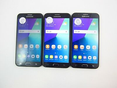 Lot of 3 Cracked Samsung Galaxy J7 Prime J727A AT&T Check IMEI CR
