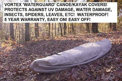 New Vortex Waterguard Heavy Duty Waterproof Kayak/canoe Cover Up To 16' Long!