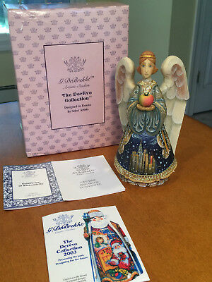 "NEW IN BOX G. DeBrekht DerEvo Collection 9"" GUARDIAN OF NEW YORK ANGEL Christmas"