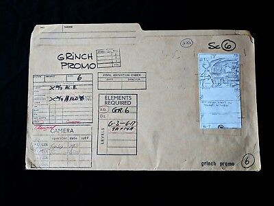 Dr. Suess HOW THE GRINCH STOLE CHRISTMAS Production Materials - Folder