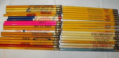 LOT of 37 VINTAGE UN-USED FARM AGRICULTURE RELATED PENCILS LIVESTOCK COMMISSION