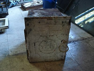 Antique Cast Iron Wall Safe 1870's  or Lock Box Brownsville,Pa history
