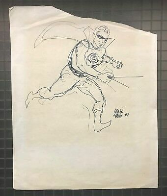 Irwin Hasen THE GOLDEN AGE GREEN LANTERN Signed Autographed Original Daily Comic