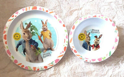 Peter Rabbit  2 Piece Micro Safe Plate and  Bowl Mealtime Set 6 Mths + New