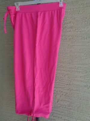 774467160db New Just My Size Cotton Blend French Terry Jersey Knit Pull On Capris 2X  Fuchsia