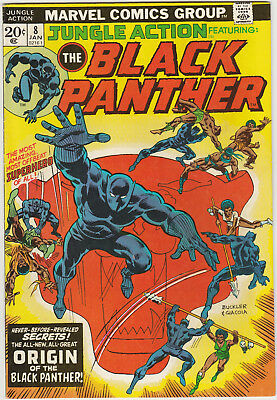 JUNGLE ACTION #8 January 1974 Marvel Comics Black Panther ORIGIN