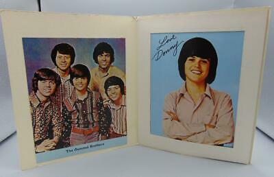 The Osmond Brothers 1970's Concert Souvenir Photograph in Folder Print Donny