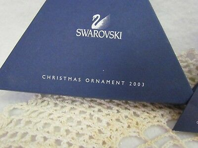 2003 Swarovski Snowflake Christmas Ornament in Original Box Damaged