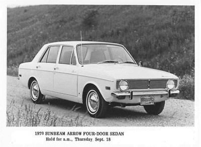 1970 Sunbeam Arrow Four Door Sedan ORIGINAL Factory Photo oua2648