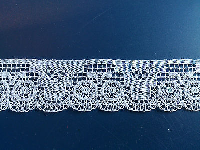 100 m Antique Cluny Pretty Cotton Lace Edge Dolls Dresses Scrapbooking Crafting