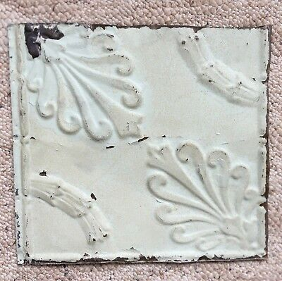 1890's 12 x 12 Antique Tin Ceiling Tile Blue Metal Reclaimed Anniversary 140-18