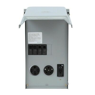 Outlet Box 100 Amp 3-Circuit 240-Volt Unmetered RV with 50/30/20 Amp 16-Gauge
