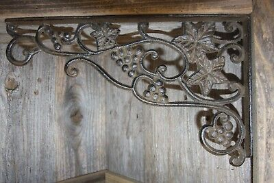 "(6) Vintage-style Wine Country Vineyard Decor, Shelf Brackets, 7"" x 12"",B42"