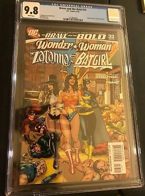 Brave & The Bold #33 CGC 9.8 WHITE PAGES! Zatanna Wonder Woman Batgirl Cover!