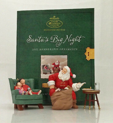 Hallmark Keepsake Club Ornament Set 2002 Santa's Big Night - #QXC2002-SDB