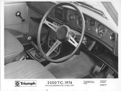 1974 Triumph 2500 TC Wheel & Dashboard ORIGINAL Factory Photo oua3001