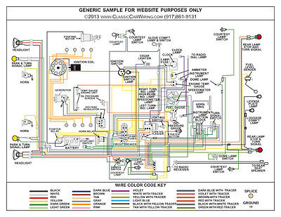 """1957 57 Ford Truck Full Color Laminated Wiring Diagram 11"""" X 17"""""""