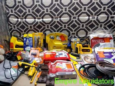 Over 25 Pcs Of Hand Tools And Weatherseal - Saws - Staple Guns - Glue Gun