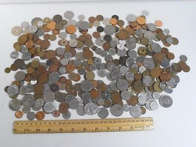 VINTAGE HUGE LOT 3 Lbs 12 ozs *FOREIGN INTERNATIONAL USED COIN LOT*