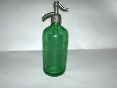 OLD Seltzer Siphon Bottle Green CRYSTAL CLUB SPARKLING SCRANTON PA Syphon
