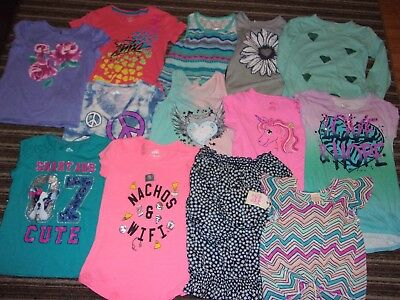Pre-Owned LOT of 35 GIRLS Spring/Summer Clothing Lot 7 7/8 8  EUC
