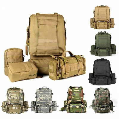 55L 3D Molle Tactical Outdoor Assault Military Rucksack Backpack Shoulder Bag