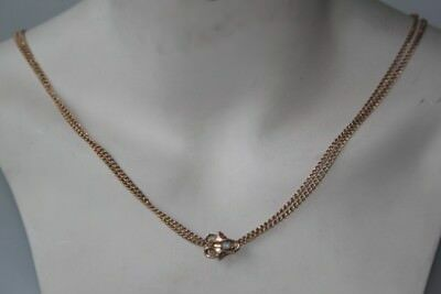 Chain Wonderful Art Nouveau Necklace Watch with Chain Slider Strong Opal Ruby