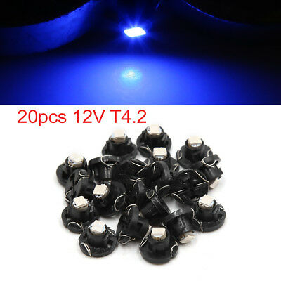 20pcs 12V T4.2 Blue LED 1210 SMD Car Dashboard Light Gauge Panel Lamp Interior