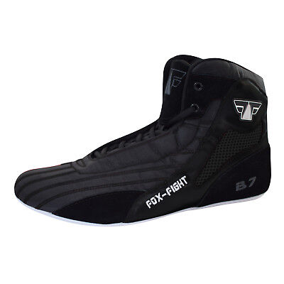 FOX-FIGHT B7 BLACK Kampfsport Schuhe Boxstiefel Ringer athletik Fitness Gym Box