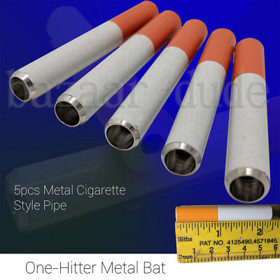 5X Metal Bat Cigarette Style Pipe | 2 1/4 Inch | One Hitter Dugout | US SELLER