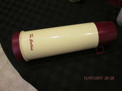 vintage Tim Hortons TALL THERMOS Plastic Travel Coffee Mug 13.5""