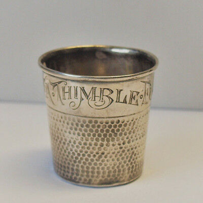 Fingerhut groß Trinkbecher ONLY A THIMBLE FULL WEBSTER STERLING