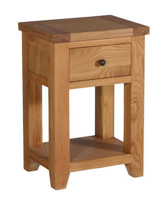 Small Oak Side Table | Wooden End/Lamp Table | Bedside Cabinet | Nightstand
