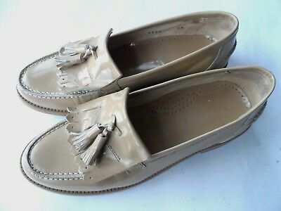 Russell & Bromley Stunning Beige Leather Tassel Loafers-Sz 5 Uk/38Eu/7.5Us