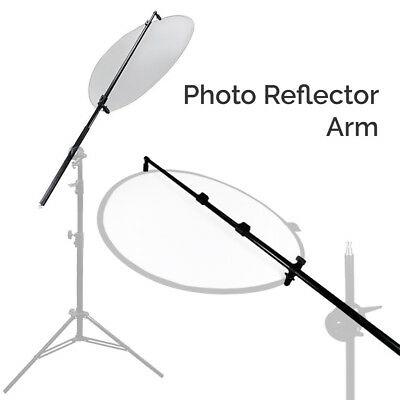 """28"""" - 73"""" Photo Reflector with Rubber Hand Grip Arm Holder Photography Boom Bar"""