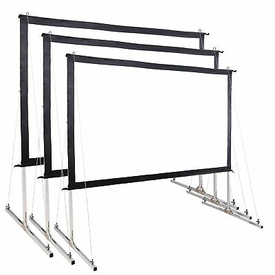"""16:9 Fast Fold Projector Screen w/ Stand Garden Movie Projection 100"""" 120"""" 135"""""""